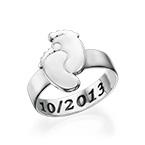 刻印入り赤ちゃんの足の指輪