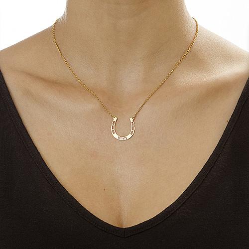 刻印付き馬蹄形ネックレス - 1
