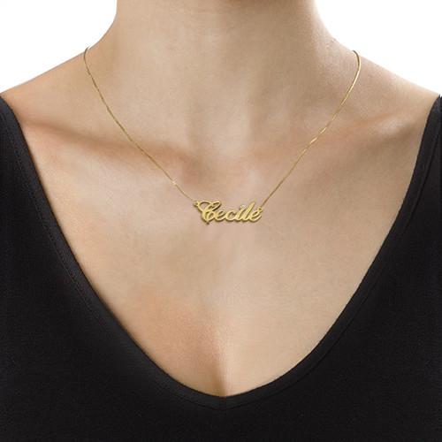14kゴールド&ダイヤモンド ネームネックレス - 1