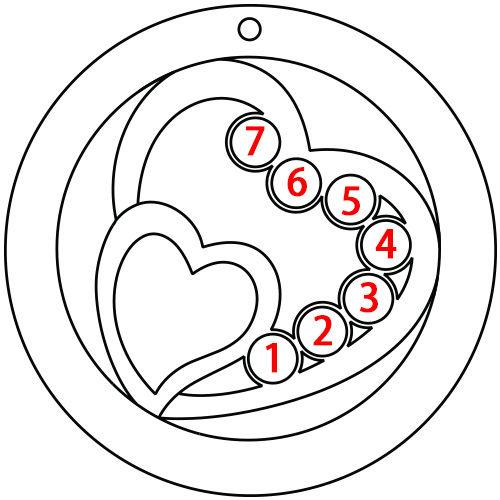 ママのためのハートインハート誕生石ネックレス - 5