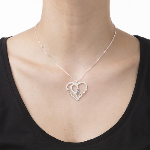 シルバーカップルの誕生石ネックレス - 真にあなたのコレクション - 2