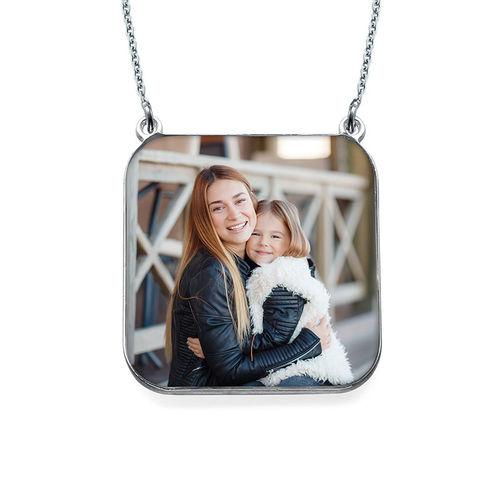 パーソナライズ写真ネックレス - 正方形