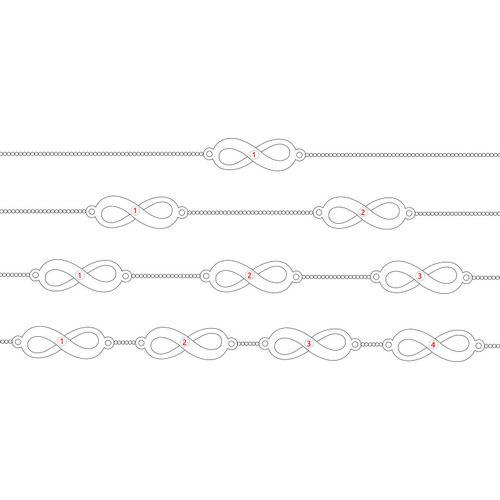 複数のシルバーインフィニティブレスレット - 6