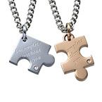 2人のためのパズルピースネックレスセット